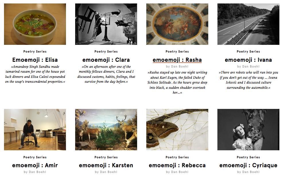 emoemoji poems at schloss-post from the akademie schloss solitude